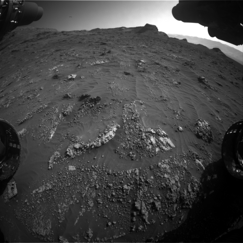 Nasa's Mars rover Curiosity acquired this image using its Front Hazard Avoidance Camera (Front Hazcam) on Sol 3158, at drive 1466, site number 89