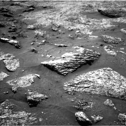 Nasa's Mars rover Curiosity acquired this image using its Left Navigation Camera on Sol 3158, at drive 1160, site number 89