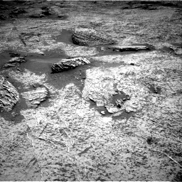 Nasa's Mars rover Curiosity acquired this image using its Right Navigation Camera on Sol 3158, at drive 1094, site number 89