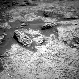 Nasa's Mars rover Curiosity acquired this image using its Right Navigation Camera on Sol 3158, at drive 1100, site number 89