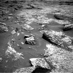 Nasa's Mars rover Curiosity acquired this image using its Right Navigation Camera on Sol 3158, at drive 1112, site number 89