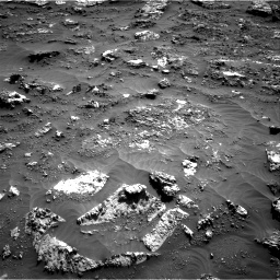 Nasa's Mars rover Curiosity acquired this image using its Right Navigation Camera on Sol 3158, at drive 1364, site number 89