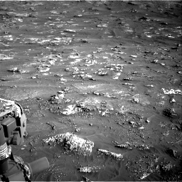 Nasa's Mars rover Curiosity acquired this image using its Right Navigation Camera on Sol 3158, at drive 1460, site number 89