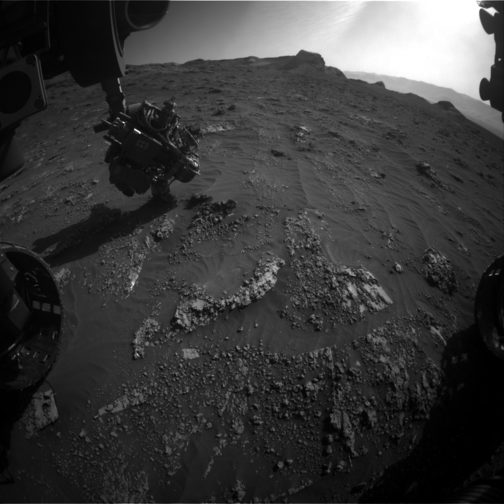 Nasa's Mars rover Curiosity acquired this image using its Front Hazard Avoidance Camera (Front Hazcam) on Sol 3160, at drive 1466, site number 89