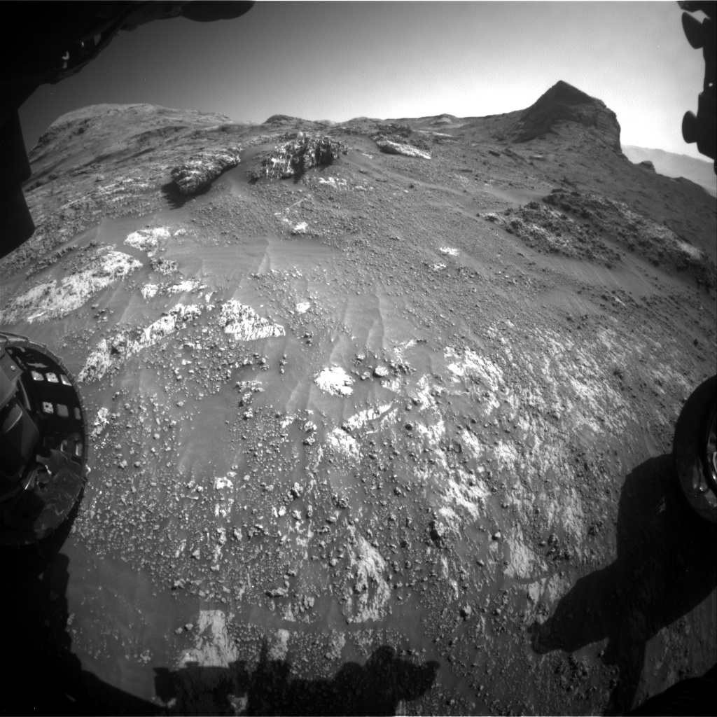 Nasa's Mars rover Curiosity acquired this image using its Front Hazard Avoidance Camera (Front Hazcam) on Sol 3161, at drive 1862, site number 89