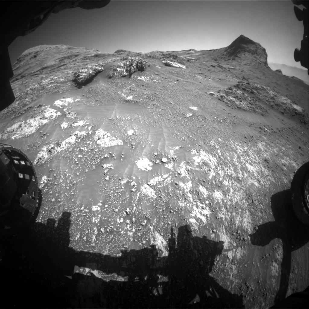 Nasa's Mars rover Curiosity acquired this image using its Front Hazard Avoidance Camera (Front Hazcam) on Sol 3162, at drive 1862, site number 89