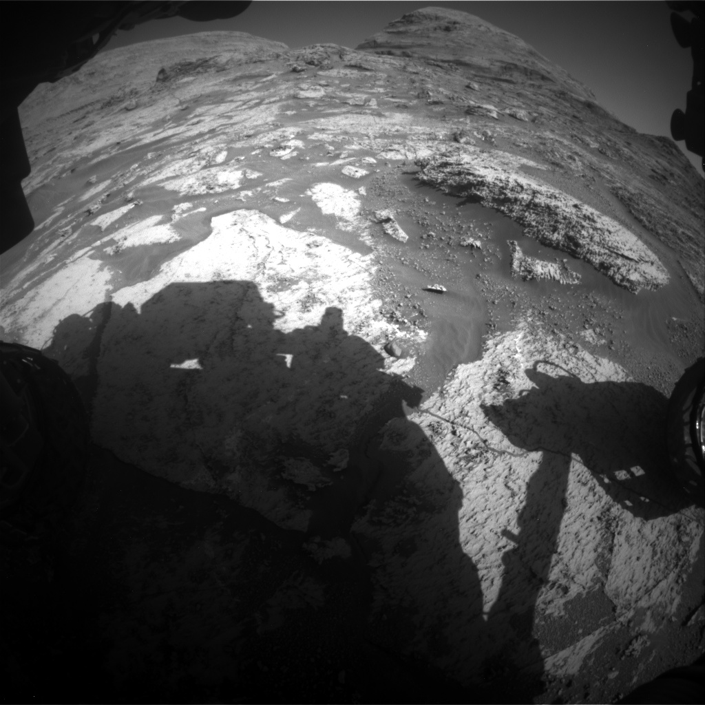 Nasa's Mars rover Curiosity acquired this image using its Front Hazard Avoidance Camera (Front Hazcam) on Sol 3163, at drive 1974, site number 89