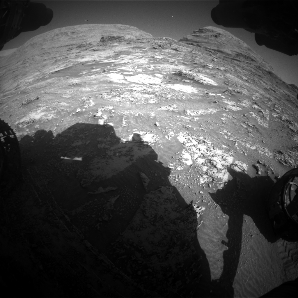 Nasa's Mars rover Curiosity acquired this image using its Front Hazard Avoidance Camera (Front Hazcam) on Sol 3163, at drive 1940, site number 89