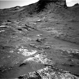 Nasa's Mars rover Curiosity acquired this image using its Left Navigation Camera on Sol 3163, at drive 1886, site number 89