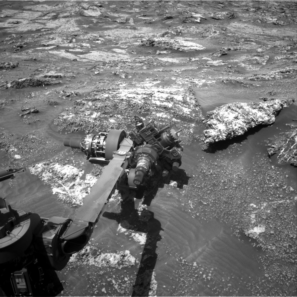 Nasa's Mars rover Curiosity acquired this image using its Right Navigation Camera on Sol 3163, at drive 1862, site number 89
