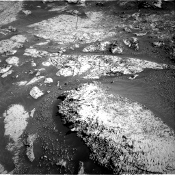 Nasa's Mars rover Curiosity acquired this image using its Right Navigation Camera on Sol 3163, at drive 1970, site number 89