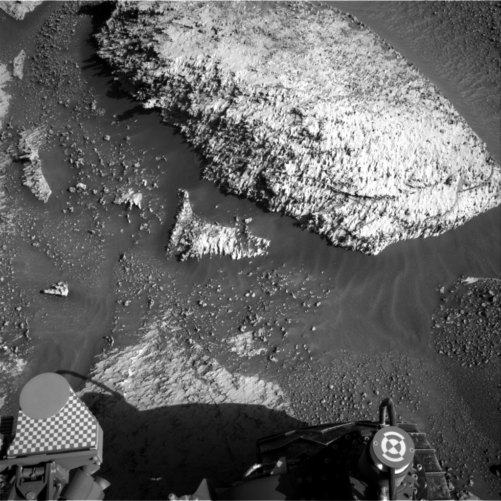 Nasa's Mars rover Curiosity acquired this image using its Right Navigation Camera on Sol 3163, at drive 1974, site number 89