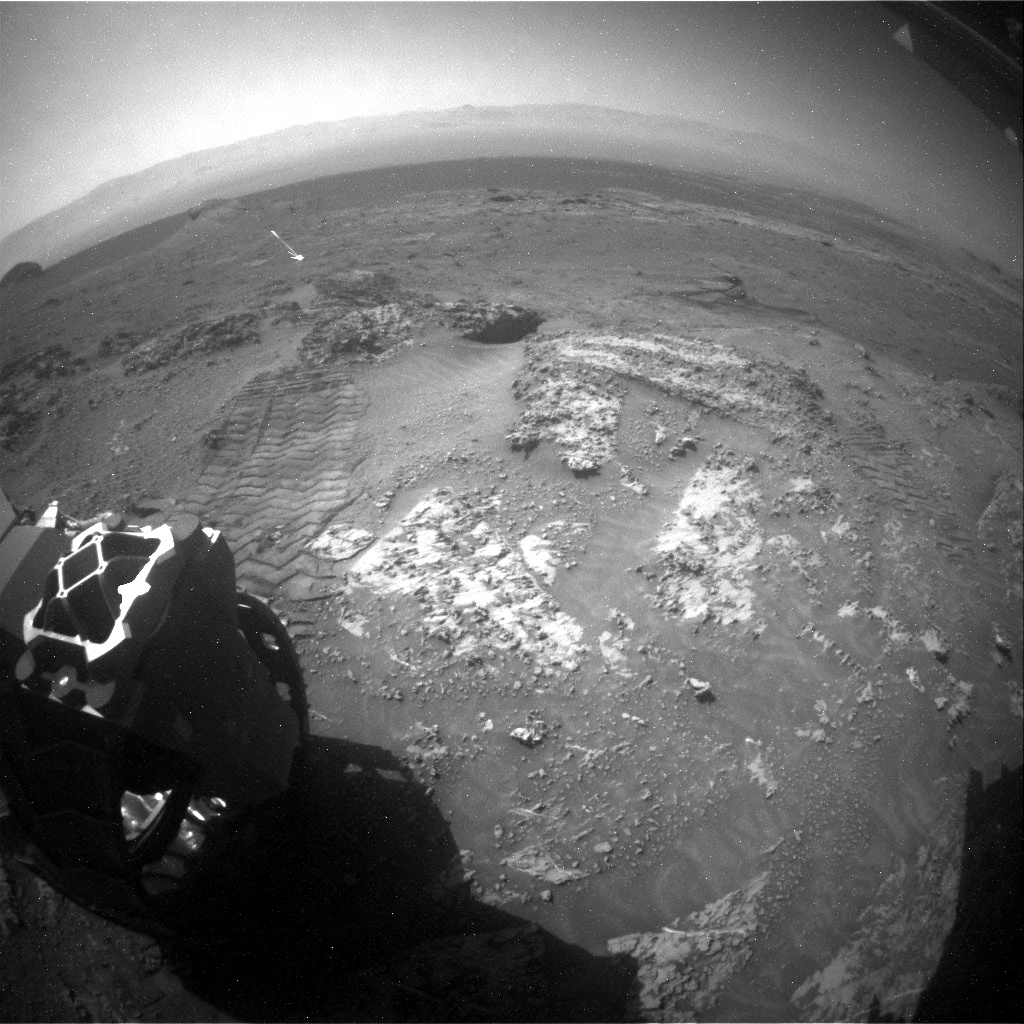 Nasa's Mars rover Curiosity acquired this image using its Rear Hazard Avoidance Camera (Rear Hazcam) on Sol 3163, at drive 1974, site number 89