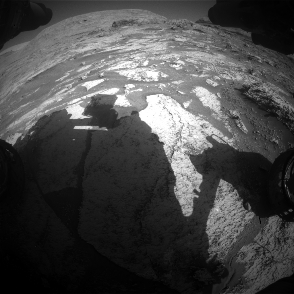 Nasa's Mars rover Curiosity acquired this image using its Front Hazard Avoidance Camera (Front Hazcam) on Sol 3165, at drive 1992, site number 89