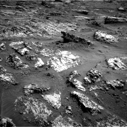 Nasa's Mars rover Curiosity acquired this image using its Left Navigation Camera on Sol 3165, at drive 1980, site number 89
