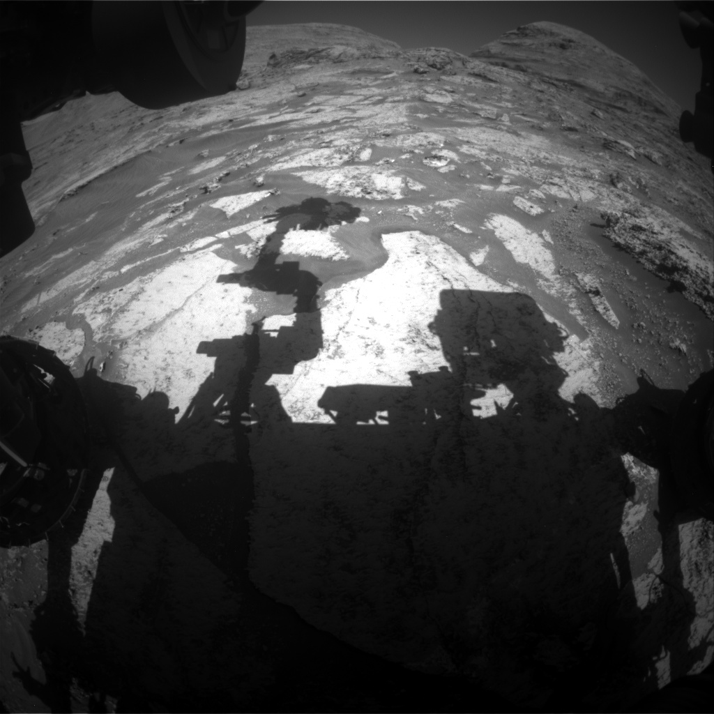 Nasa's Mars rover Curiosity acquired this image using its Front Hazard Avoidance Camera (Front Hazcam) on Sol 3166, at drive 1992, site number 89