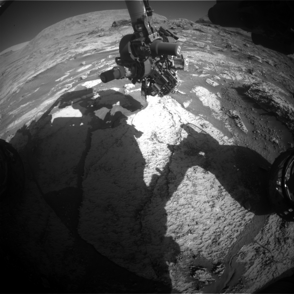 Nasa's Mars rover Curiosity acquired this image using its Front Hazard Avoidance Camera (Front Hazcam) on Sol 3167, at drive 1992, site number 89