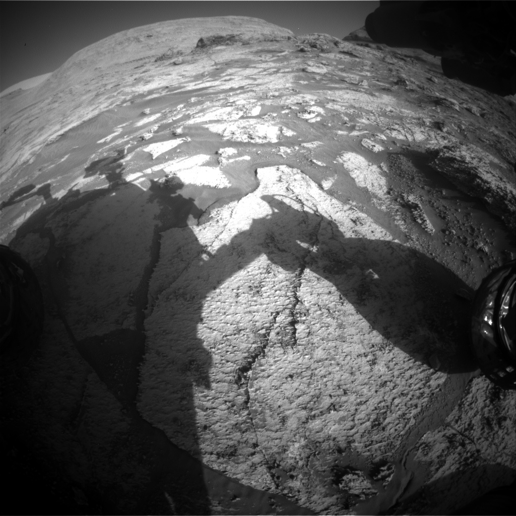 Nasa's Mars rover Curiosity acquired this image using its Front Hazard Avoidance Camera (Front Hazcam) on Sol 3168, at drive 1992, site number 89