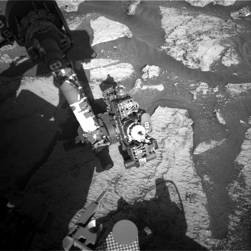 Nasa's Mars rover Curiosity acquired this image using its Right Navigation Camera on Sol 3168, at drive 1992, site number 89