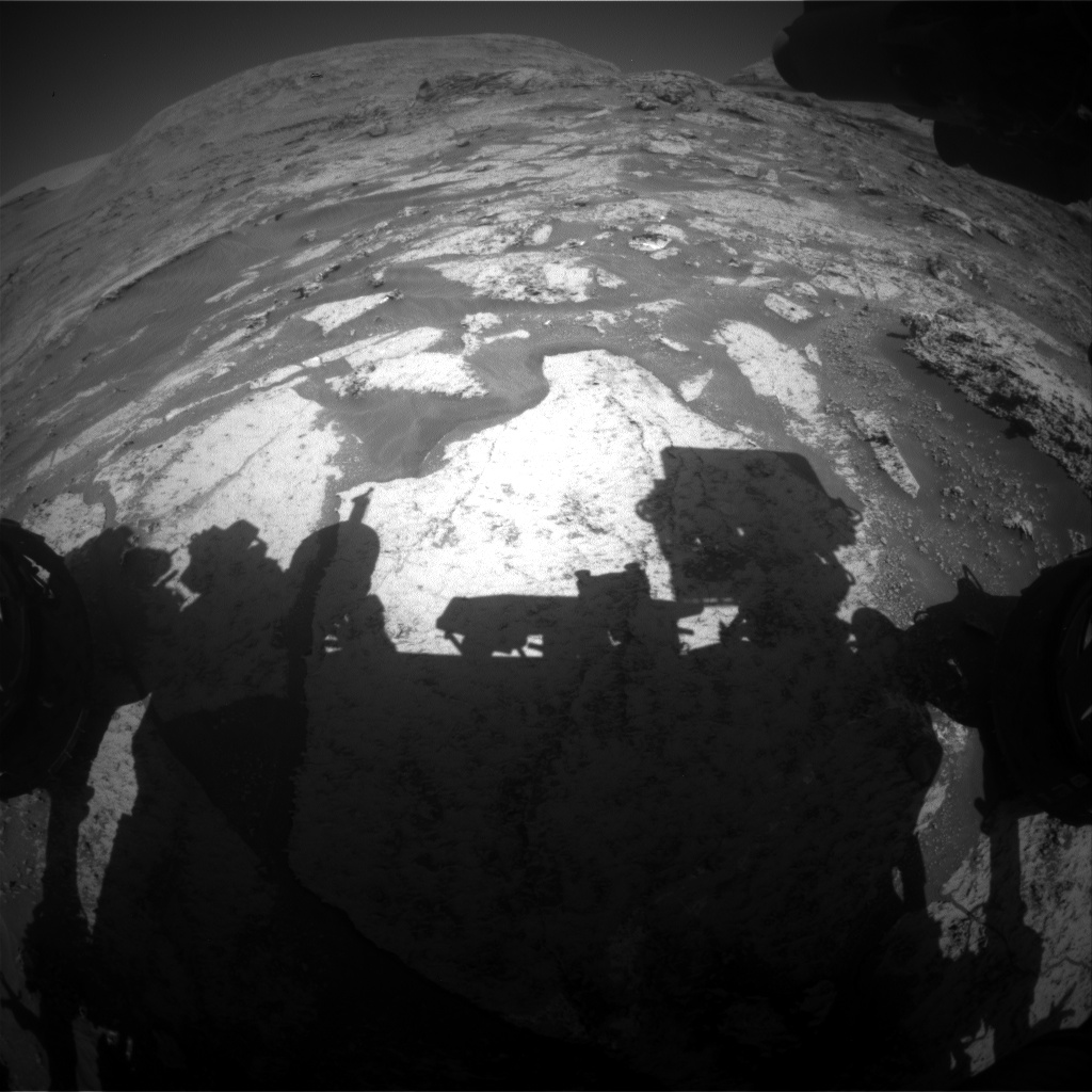 Nasa's Mars rover Curiosity acquired this image using its Front Hazard Avoidance Camera (Front Hazcam) on Sol 3169, at drive 1992, site number 89