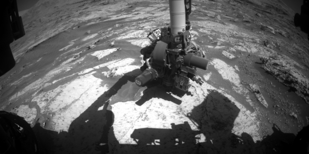 Nasa's Mars rover Curiosity acquired this image using its Front Hazard Avoidance Camera (Front Hazcam) on Sol 3170, at drive 1992, site number 89