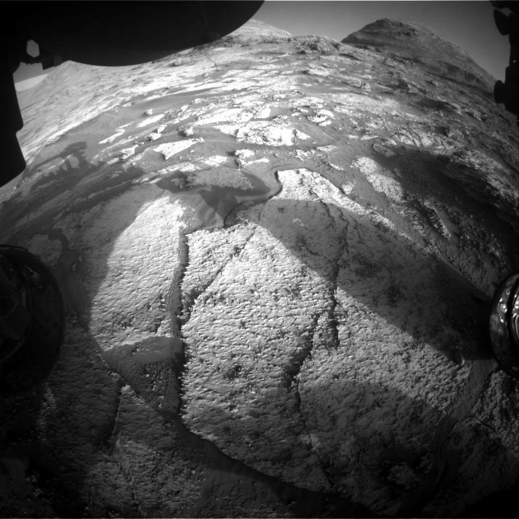 Nasa's Mars rover Curiosity acquired this image using its Front Hazard Avoidance Camera (Front Hazcam) on Sol 3171, at drive 1992, site number 89
