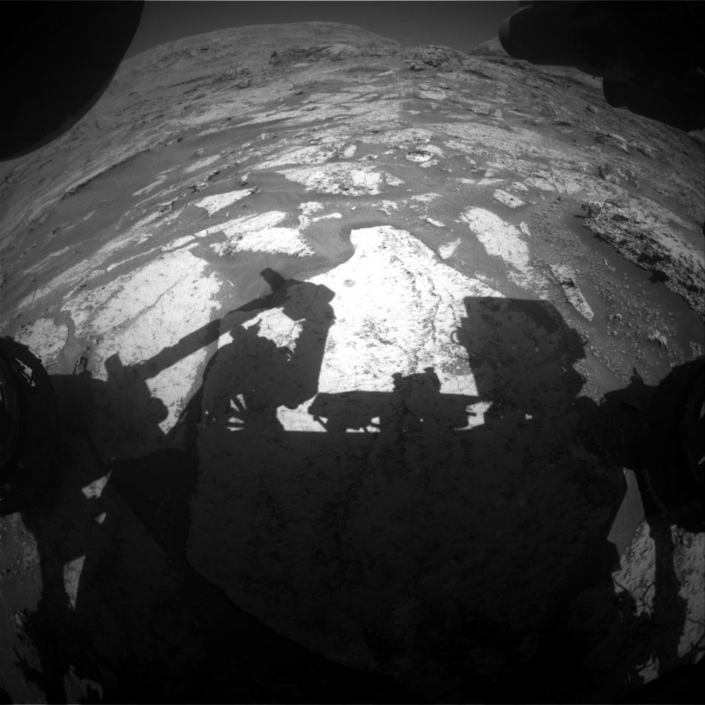 Nasa's Mars rover Curiosity acquired this image using its Front Hazard Avoidance Camera (Front Hazcam) on Sol 3173, at drive 1992, site number 89