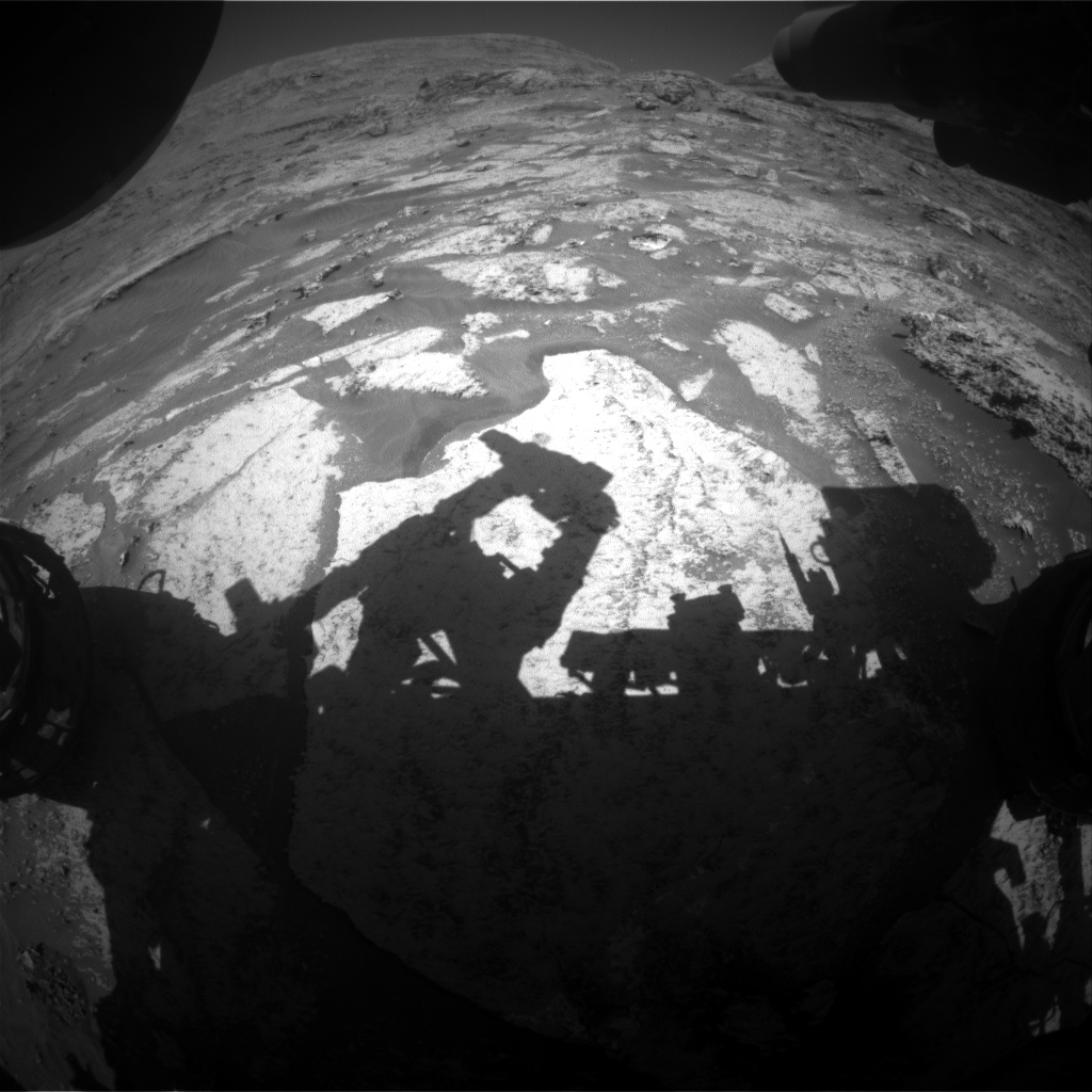 Nasa's Mars rover Curiosity acquired this image using its Front Hazard Avoidance Camera (Front Hazcam) on Sol 3174, at drive 1992, site number 89
