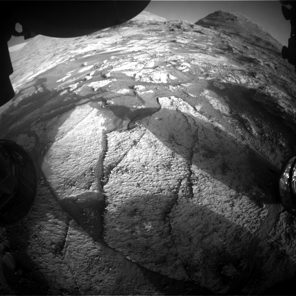 Nasa's Mars rover Curiosity acquired this image using its Front Hazard Avoidance Camera (Front Hazcam) on Sol 3176, at drive 1992, site number 89