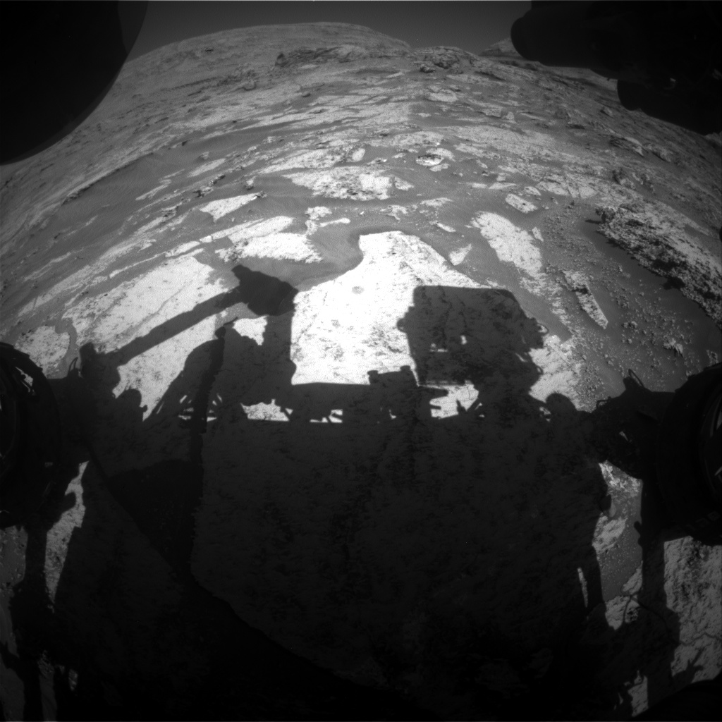 Nasa's Mars rover Curiosity acquired this image using its Front Hazard Avoidance Camera (Front Hazcam) on Sol 3177, at drive 1992, site number 89