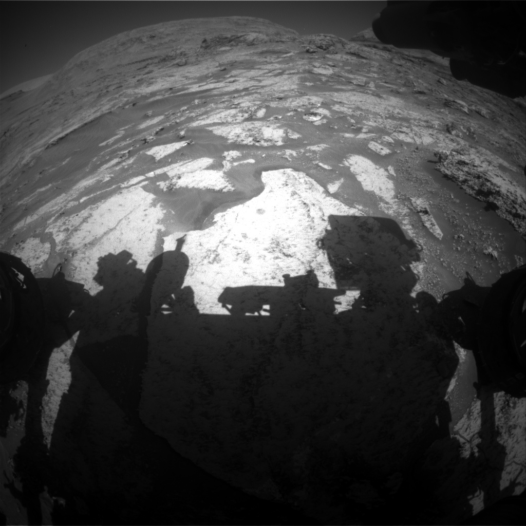Nasa's Mars rover Curiosity acquired this image using its Front Hazard Avoidance Camera (Front Hazcam) on Sol 3179, at drive 1992, site number 89