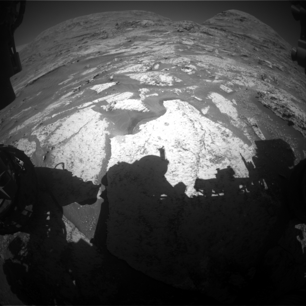 Nasa's Mars rover Curiosity acquired this image using its Front Hazard Avoidance Camera (Front Hazcam) on Sol 3182, at drive 1992, site number 89