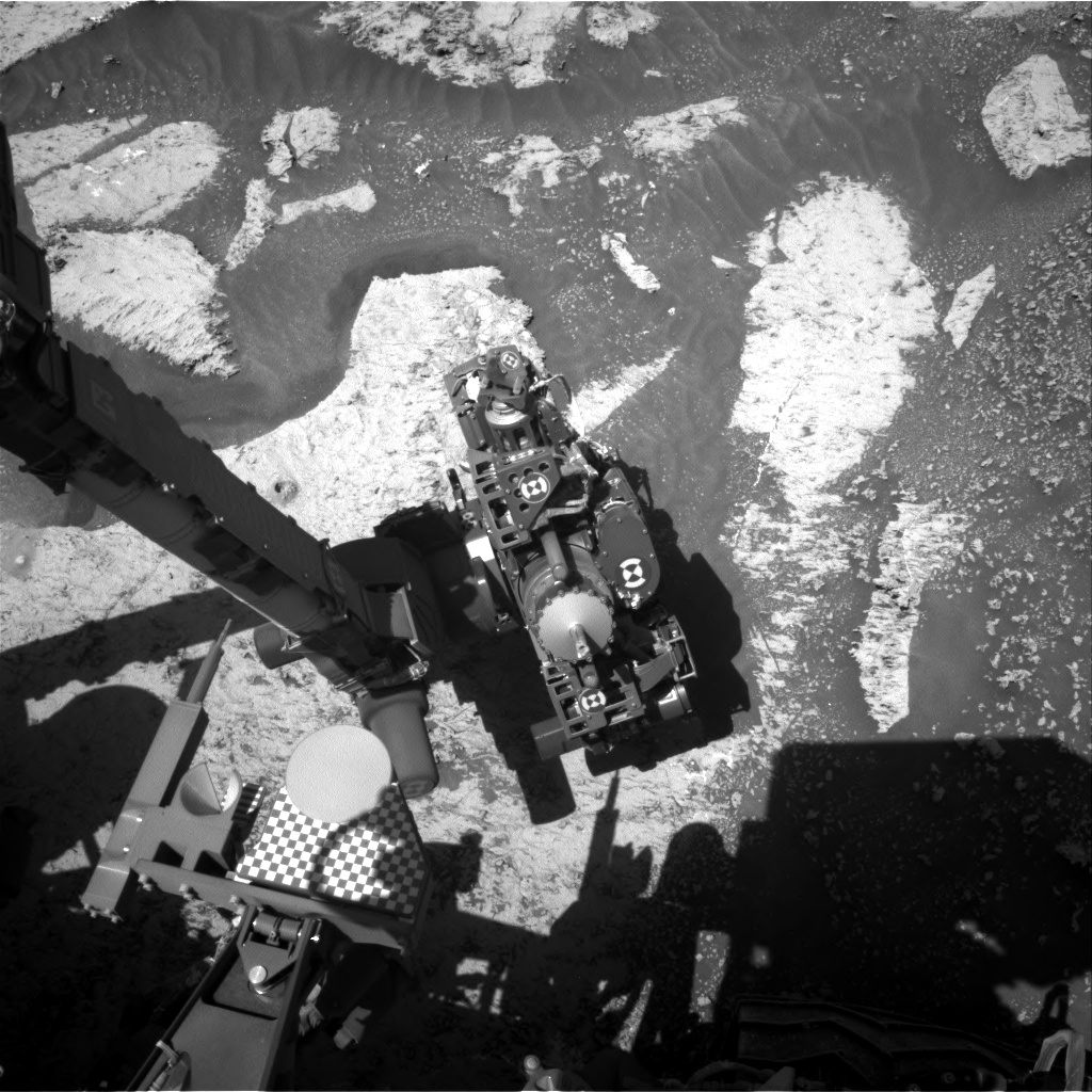Nasa's Mars rover Curiosity acquired this image using its Right Navigation Camera on Sol 3182, at drive 1992, site number 89