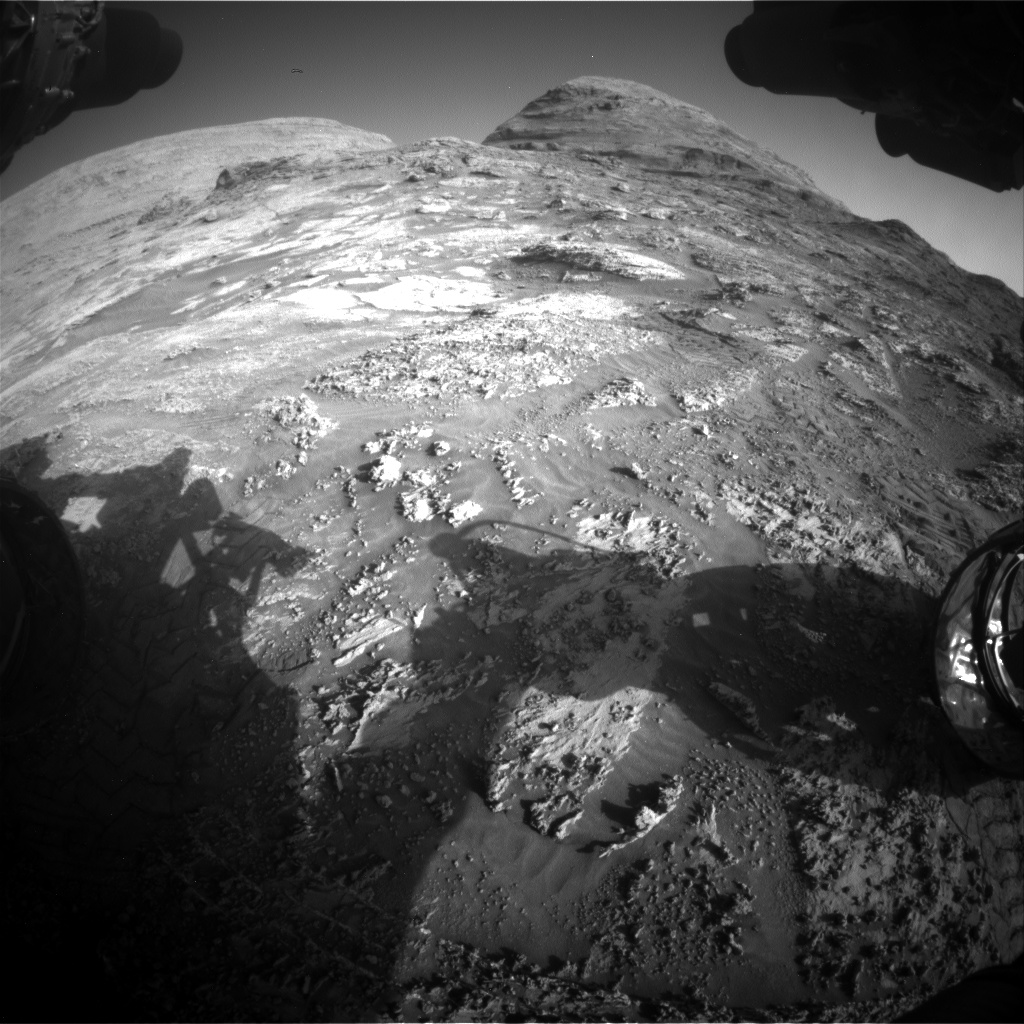 Nasa's Mars rover Curiosity acquired this image using its Front Hazard Avoidance Camera (Front Hazcam) on Sol 3183, at drive 2034, site number 89