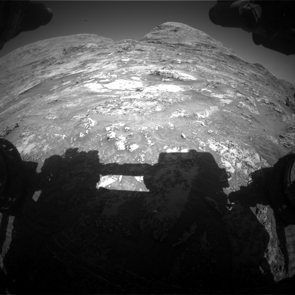 Nasa's Mars rover Curiosity acquired this image using its Front Hazard Avoidance Camera (Front Hazcam) on Sol 3184, at drive 2034, site number 89