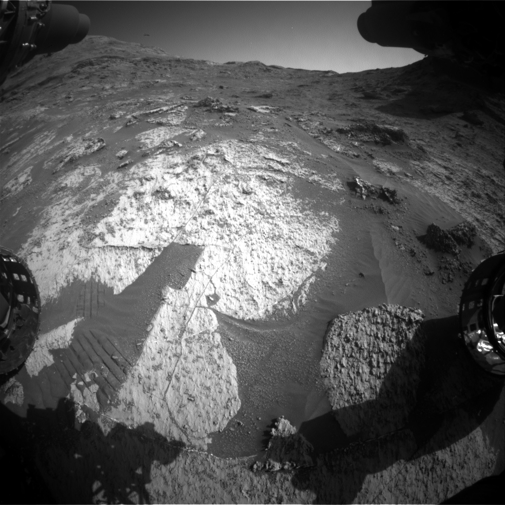 Nasa's Mars rover Curiosity acquired this image using its Front Hazard Avoidance Camera (Front Hazcam) on Sol 3185, at drive 2380, site number 89