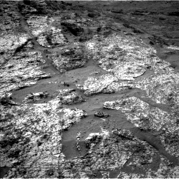 Nasa's Mars rover Curiosity acquired this image using its Left Navigation Camera on Sol 3185, at drive 2376, site number 89