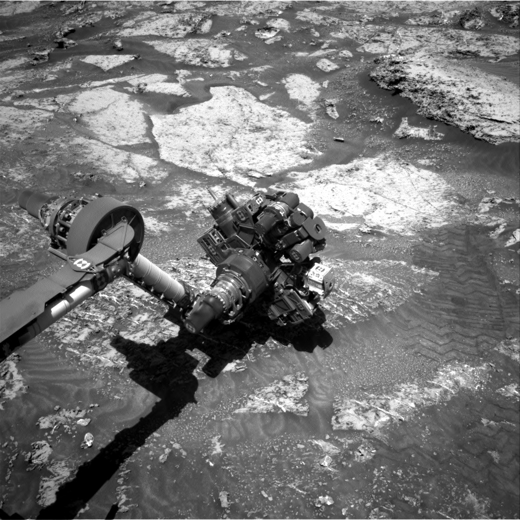 Nasa's Mars rover Curiosity acquired this image using its Right Navigation Camera on Sol 3185, at drive 2034, site number 89