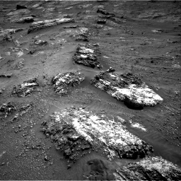 Nasa's Mars rover Curiosity acquired this image using its Right Navigation Camera on Sol 3185, at drive 2040, site number 89