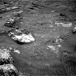 Nasa's Mars rover Curiosity acquired this image using its Right Navigation Camera on Sol 3185, at drive 2052, site number 89
