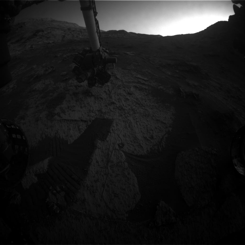 Nasa's Mars rover Curiosity acquired this image using its Front Hazard Avoidance Camera (Front Hazcam) on Sol 3187, at drive 2380, site number 89