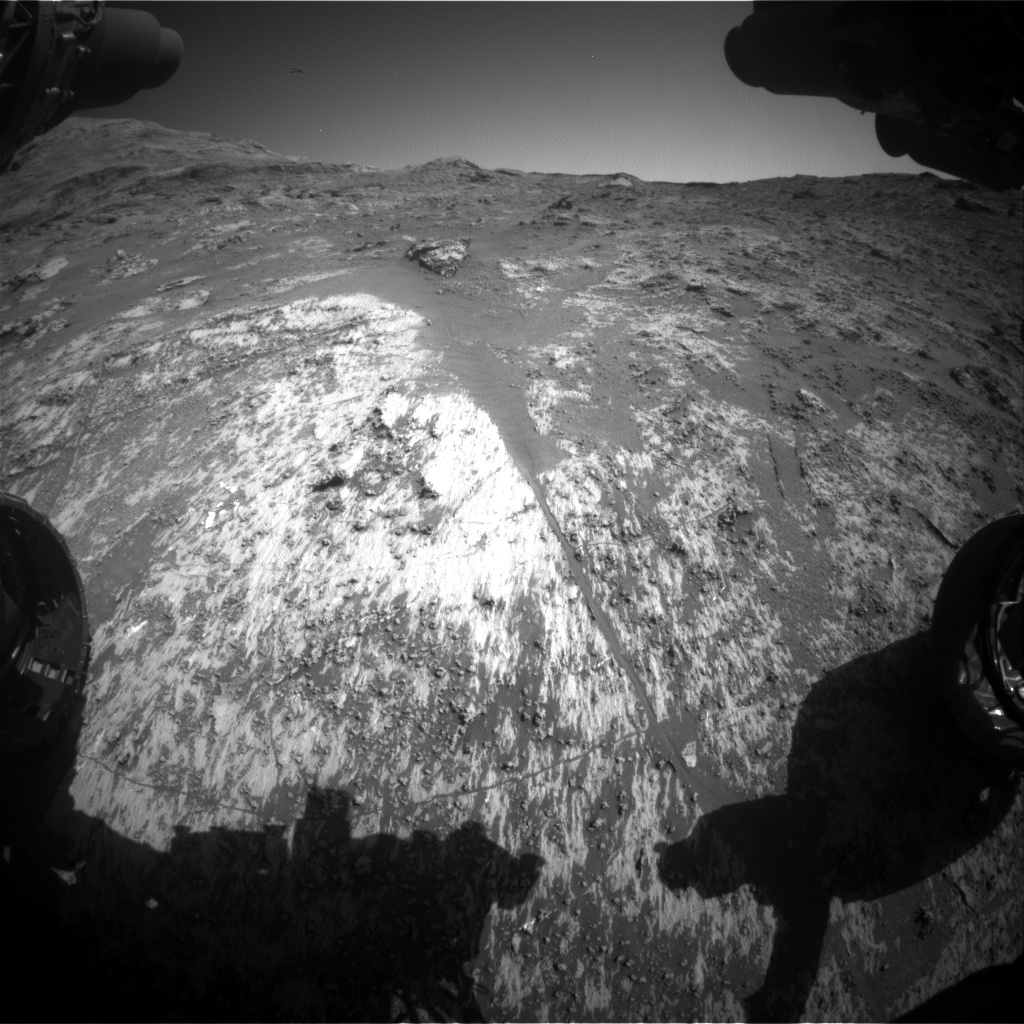 Nasa's Mars rover Curiosity acquired this image using its Front Hazard Avoidance Camera (Front Hazcam) on Sol 3188, at drive 2638, site number 89