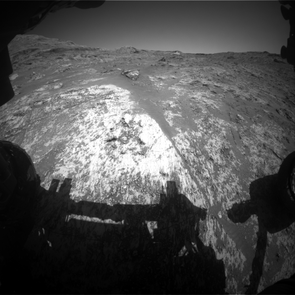 Nasa's Mars rover Curiosity acquired this image using its Front Hazard Avoidance Camera (Front Hazcam) on Sol 3189, at drive 2638, site number 89