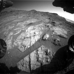 Nasa's Mars rover Curiosity acquired this image using its Front Hazard Avoidance Camera (Front Hazcam) on Sol 3190, at drive 2818, site number 89