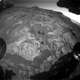 Nasa's Mars rover Curiosity acquired this image using its Front Hazard Avoidance Camera (Front Hazcam) on Sol 3190, at drive 2836, site number 89