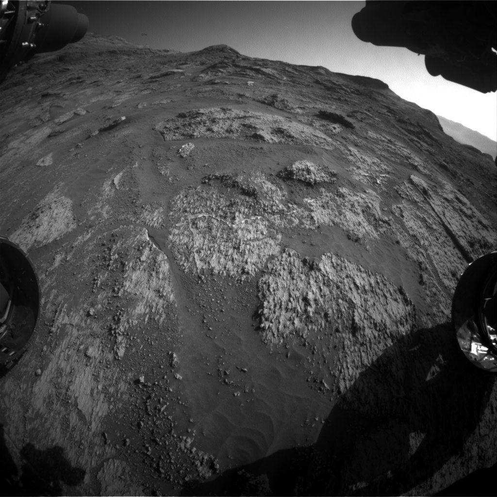 Nasa's Mars rover Curiosity acquired this image using its Front Hazard Avoidance Camera (Front Hazcam) on Sol 3190, at drive 0, site number 90