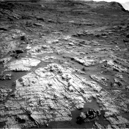 Nasa's Mars rover Curiosity acquired this image using its Left Navigation Camera on Sol 3190, at drive 2806, site number 89