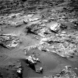 Nasa's Mars rover Curiosity acquired this image using its Right Navigation Camera on Sol 3190, at drive 2740, site number 89