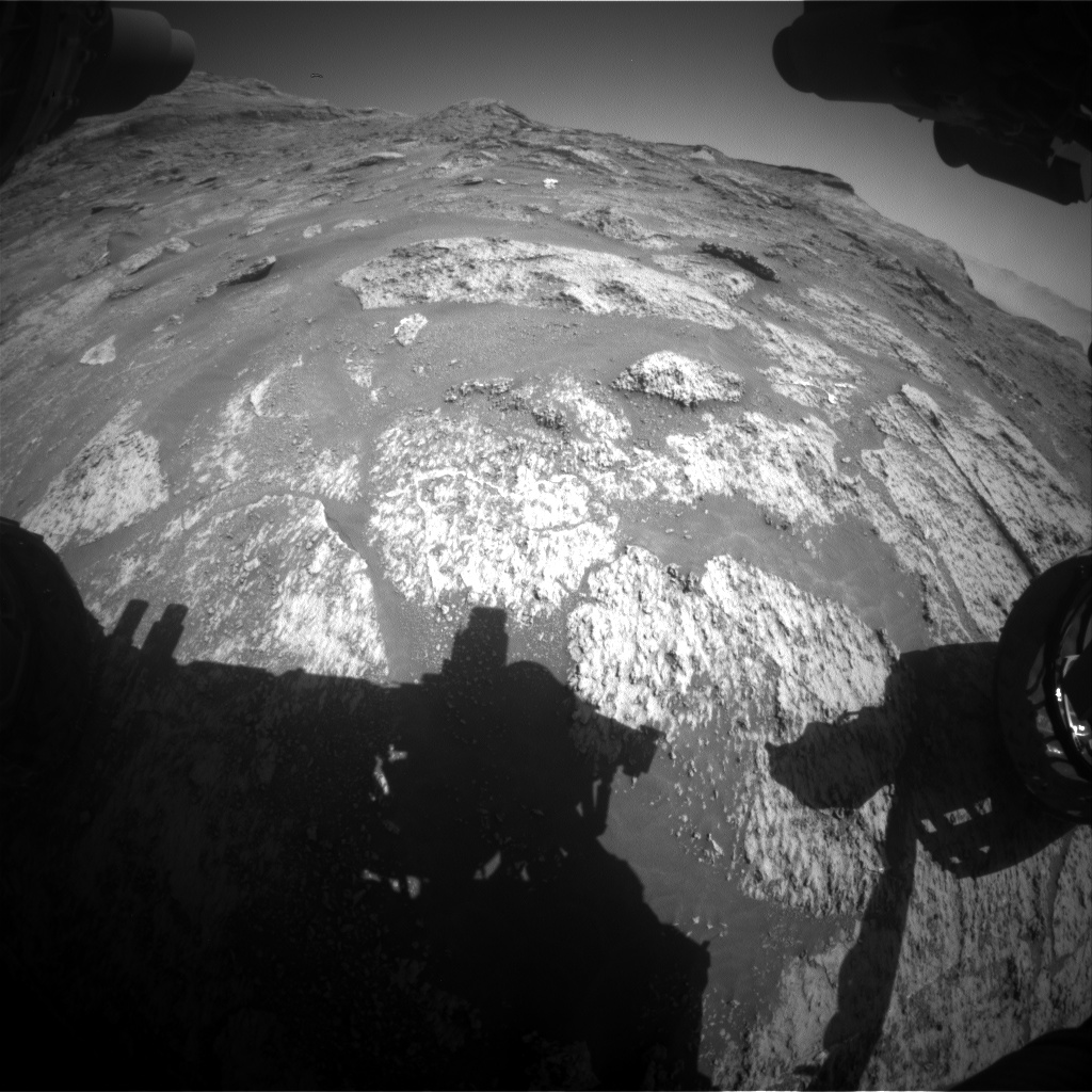 Nasa's Mars rover Curiosity acquired this image using its Front Hazard Avoidance Camera (Front Hazcam) on Sol 3191, at drive 0, site number 90