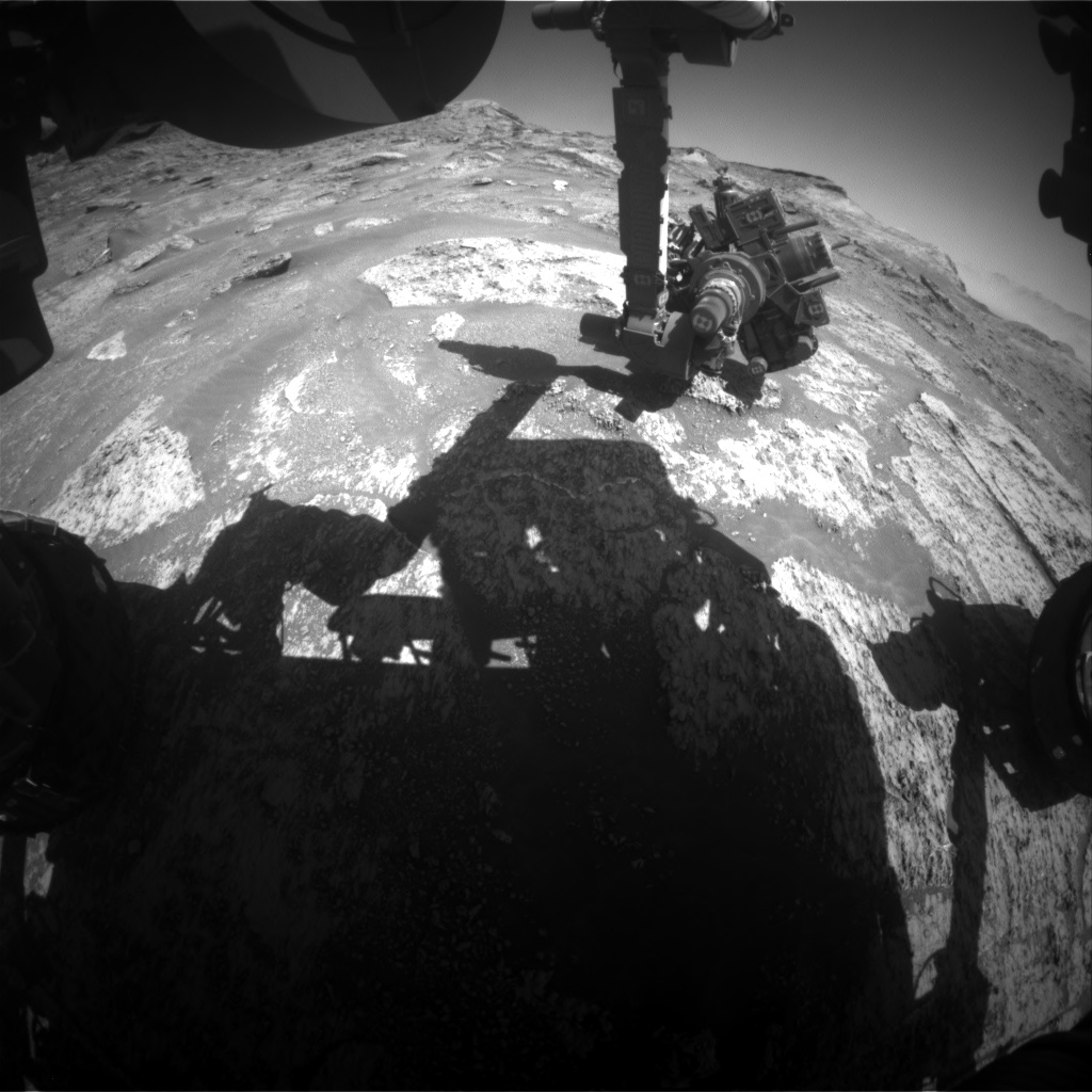 Nasa's Mars rover Curiosity acquired this image using its Front Hazard Avoidance Camera (Front Hazcam) on Sol 3192, at drive 0, site number 90